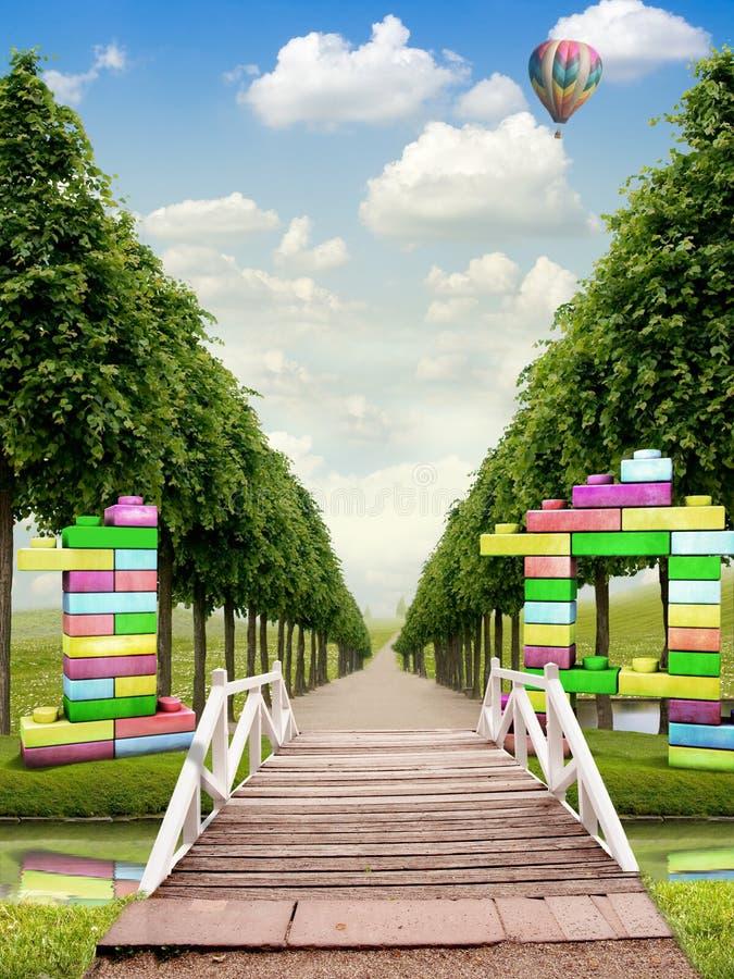 Download 1 A stock image. Image of river, garden, bridge, foliage - 22012243