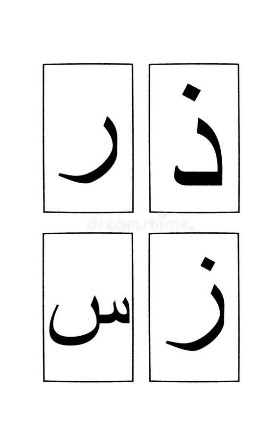 1 3个字母表阿拉伯零件 库存例证