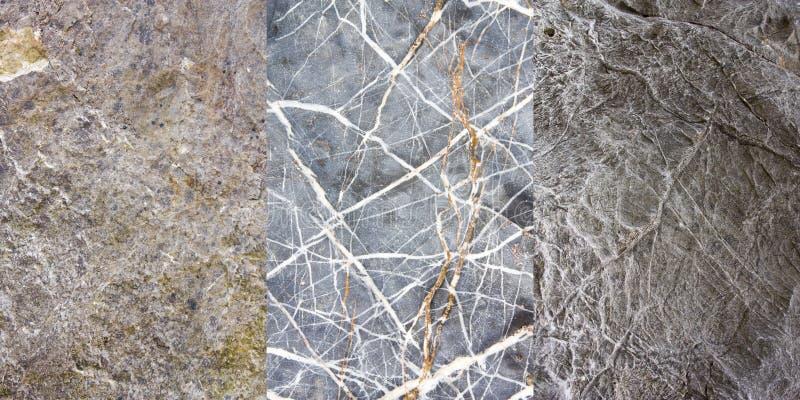 1 3收集岩石纹理 免版税库存图片