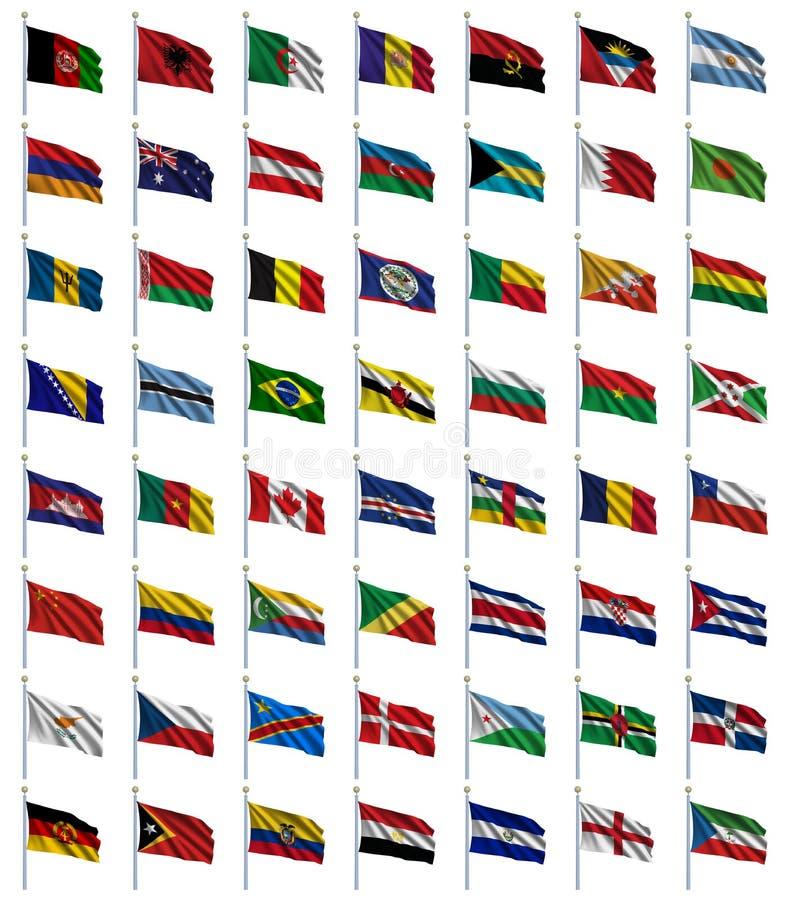(1) 4 flaga ustawiający świat royalty ilustracja