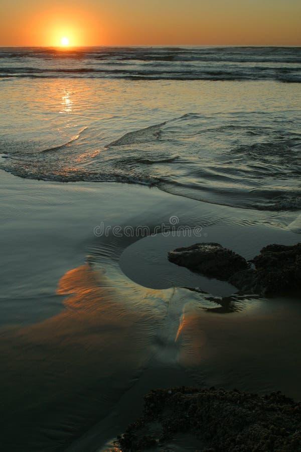 1 6 ακτή Όρεγκον στοκ εικόνα