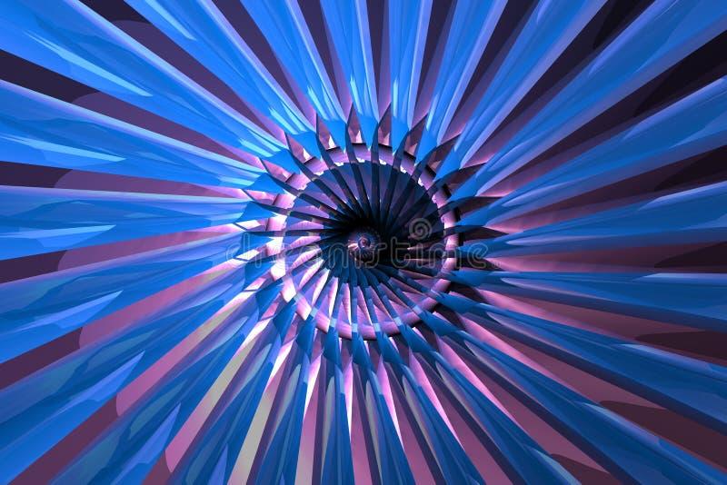 1 abstrakcyjna turbiny ilustracji