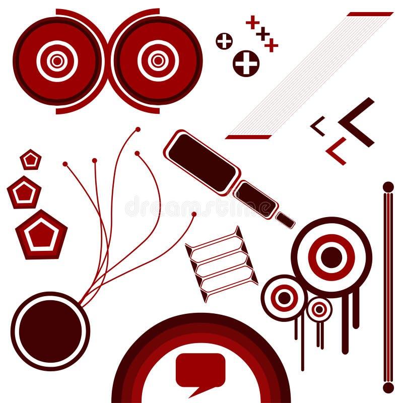 1 abstrakt vektor stock illustrationer