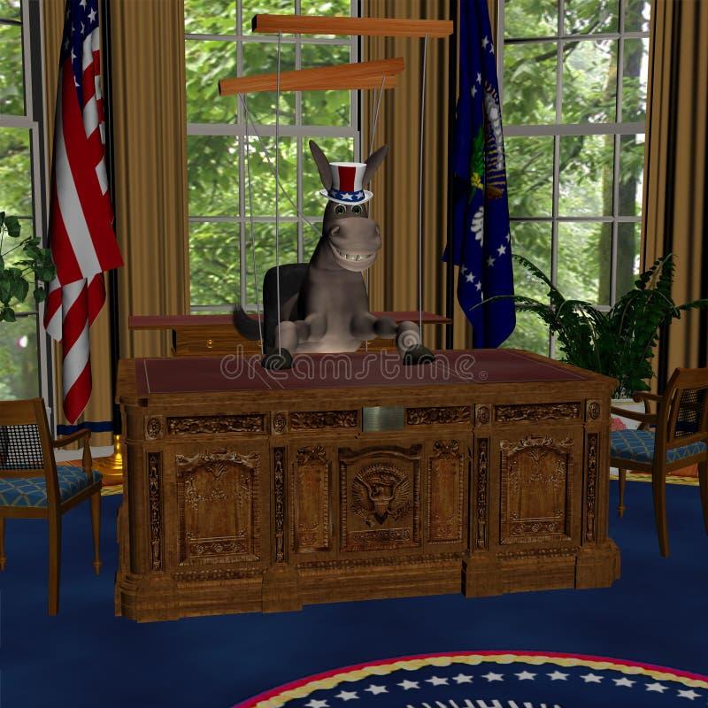 1 administrationsdemokrat royaltyfri illustrationer