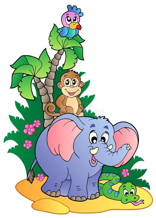 (1) afrykanina zwierząt śliczny różnorodny ilustracji