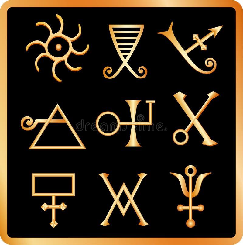 1 alchemy отсутствие знаков иллюстрация вектора