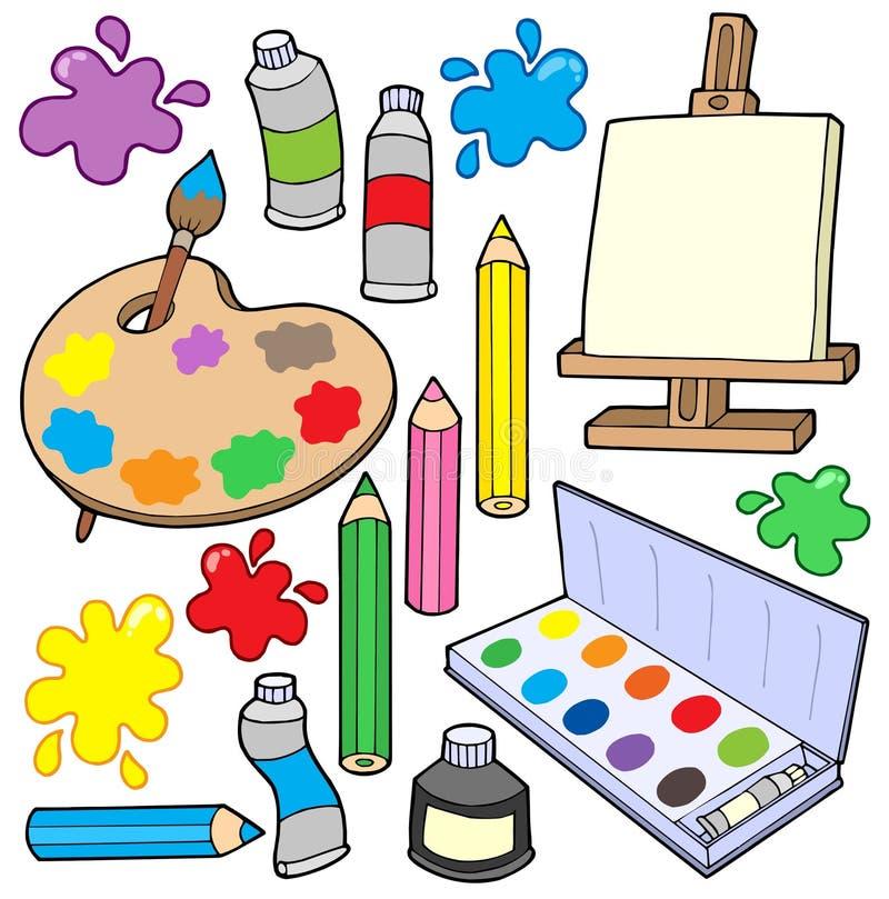 1 amende de collection d'arts illustration stock