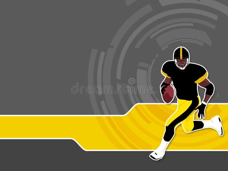 1 amerikanska fotboll vektor illustrationer