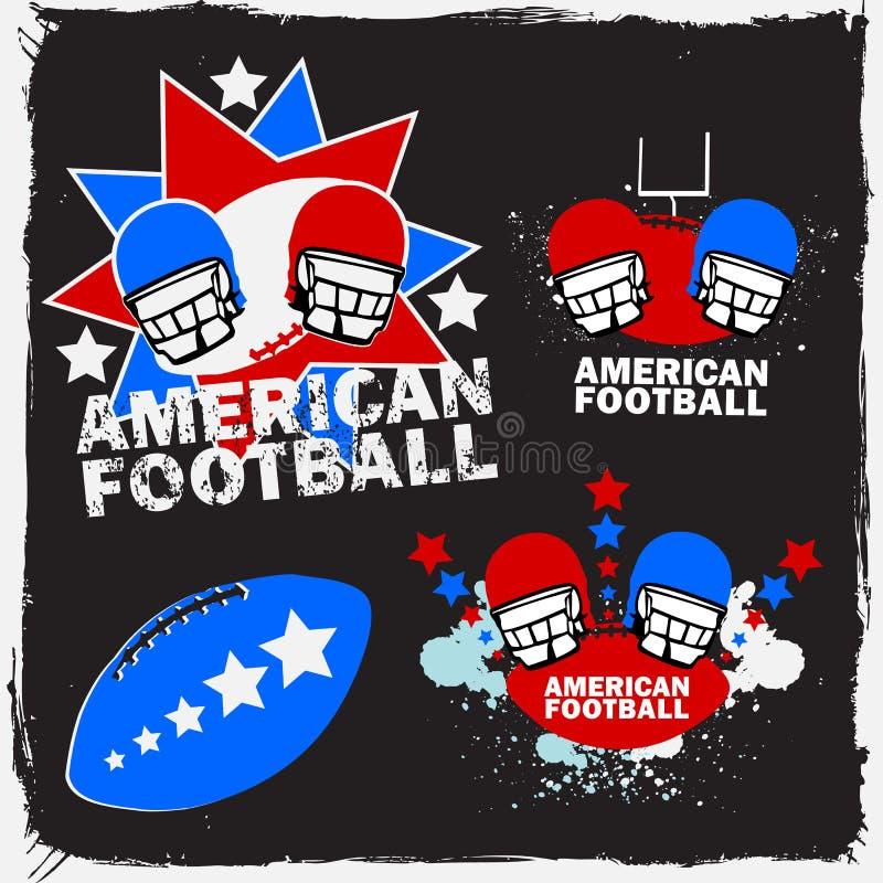 1 amerikanska fotbolllogoset royaltyfri illustrationer