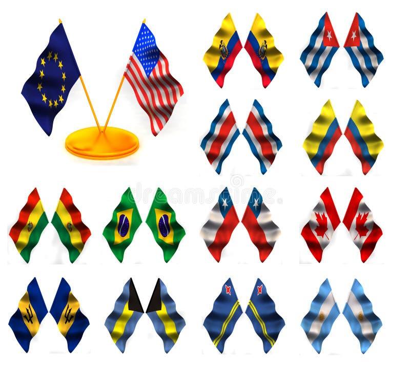 1 amerykański flagę royalty ilustracja