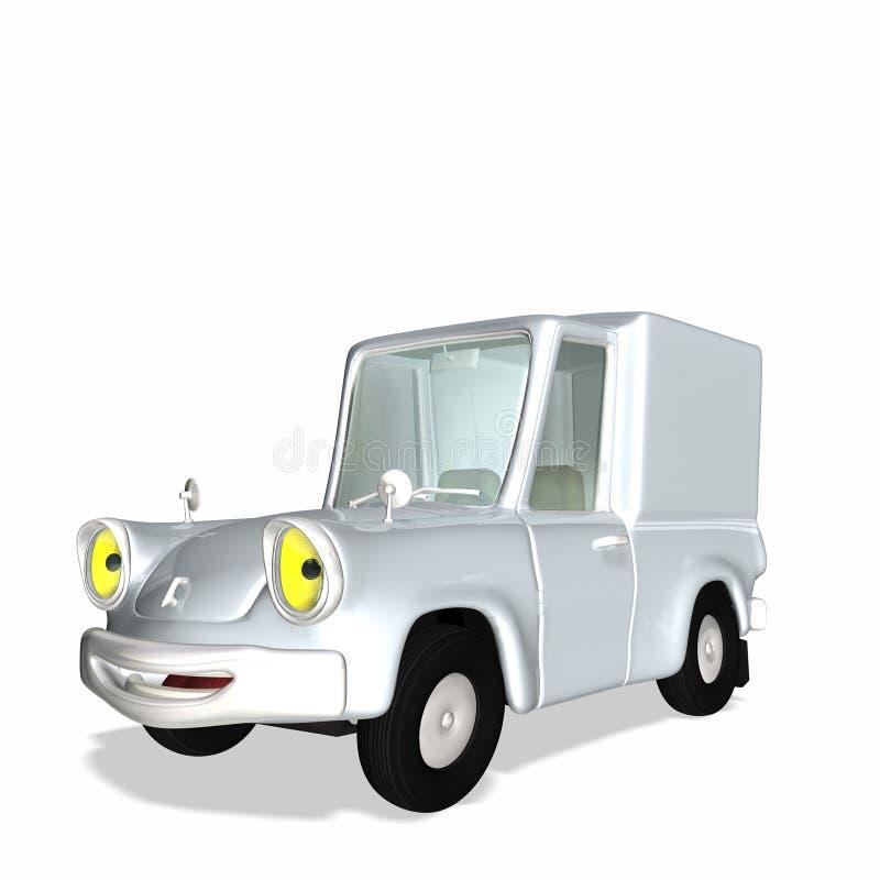 1 Animowany ładunku ciężarówka dostawy royalty ilustracja