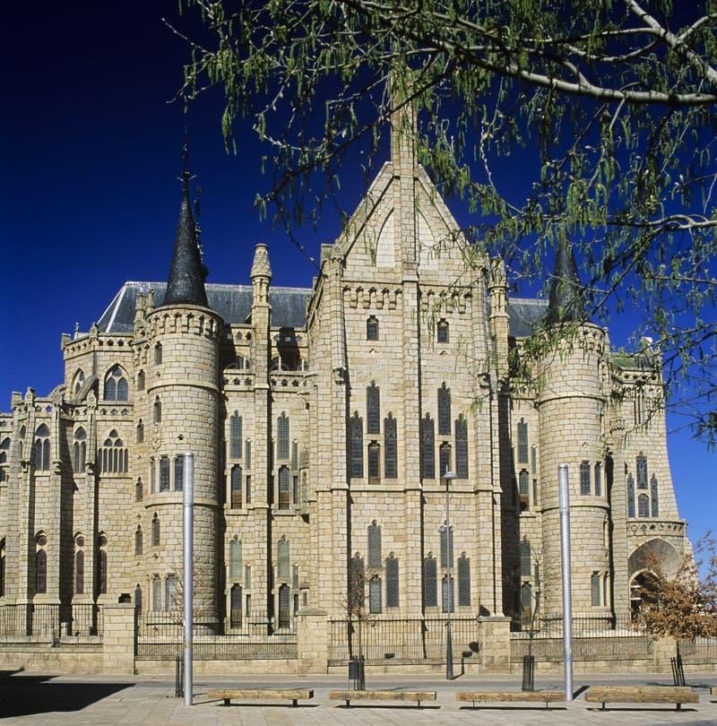 1 Astorga Bishopslott S Royaltyfri Bild