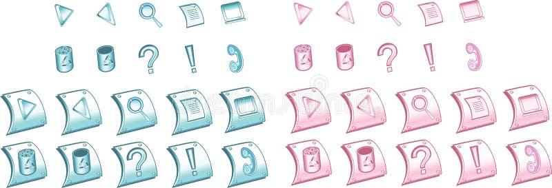 (1) błękit ikon różowy set zdjęcie royalty free