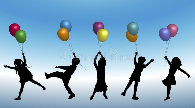 1 ballonggyckel royaltyfri illustrationer