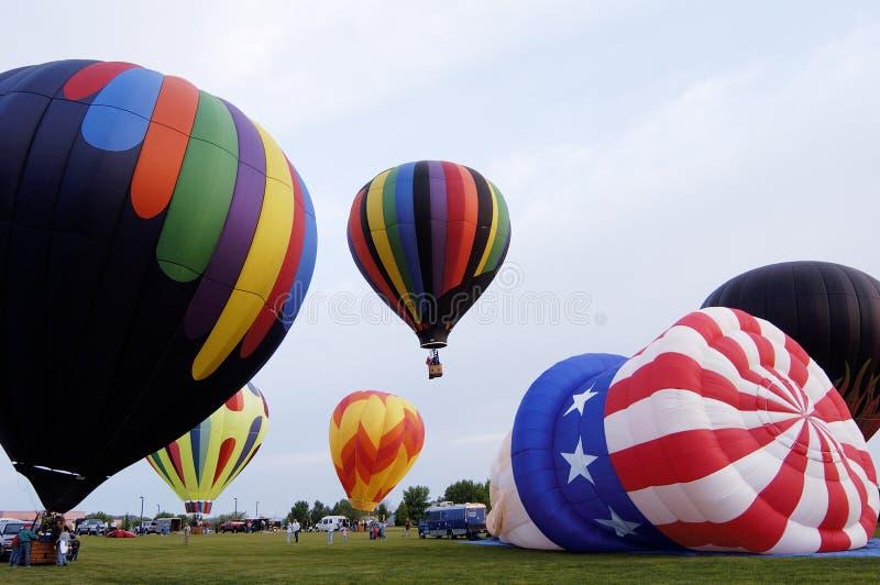 1 balony gorące powietrze zdjęcia royalty free