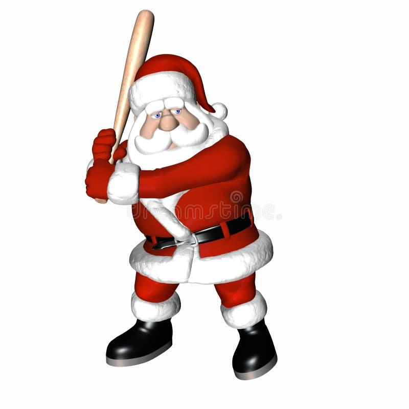 1 baseball santa vektor illustrationer