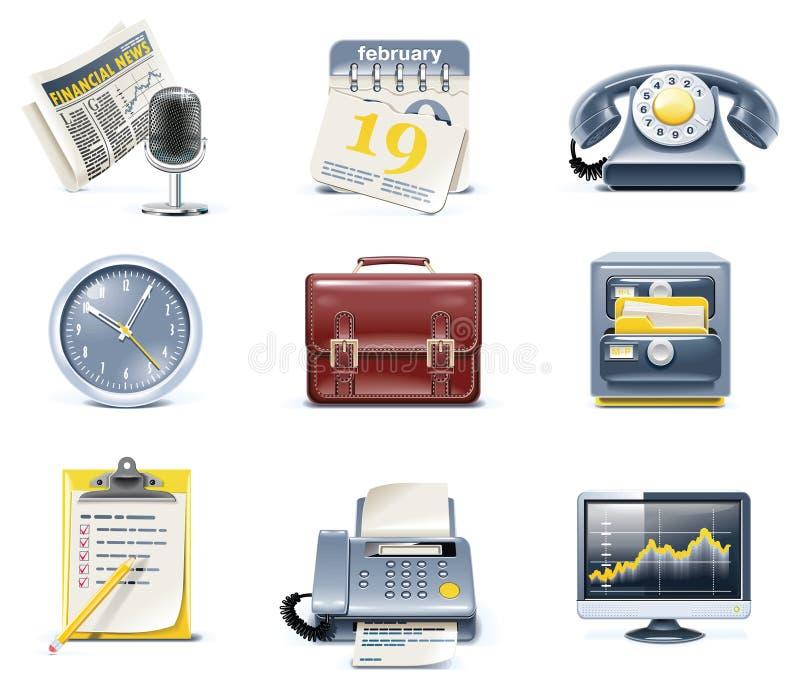 (1) biznesu ikon biurowy część wektor ilustracja wektor