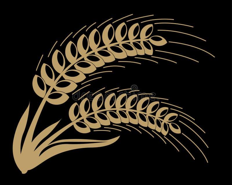 1 blé brun abstrait image libre de droits