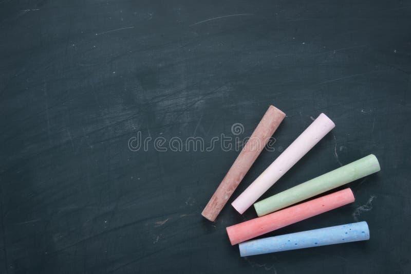 (1) blackboard pisać kredą kolor zdjęcia stock