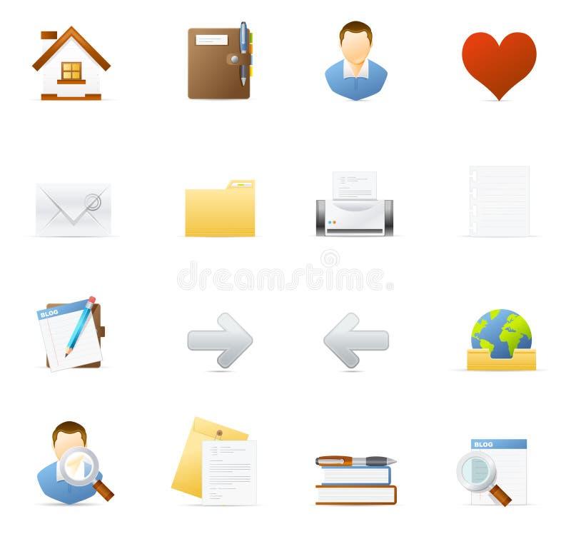 1 blogging vecto интернета иконы установленное