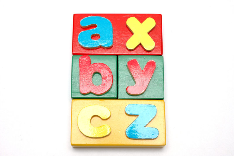 1 bloków alfabet obrazy stock
