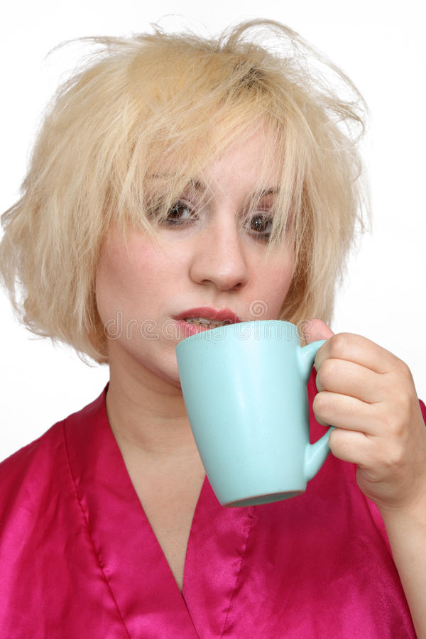 (1) blondynki kawy target551_0_ gderliwy fotografia stock