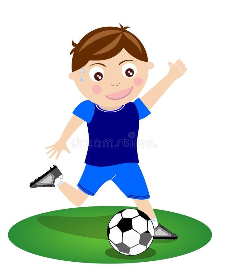 1 bollkalle stöd fotboll stock illustrationer