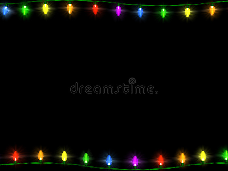 1 border christmas lights απεικόνιση αποθεμάτων