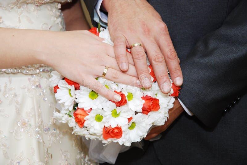 1 bukettbröllop fotografering för bildbyråer