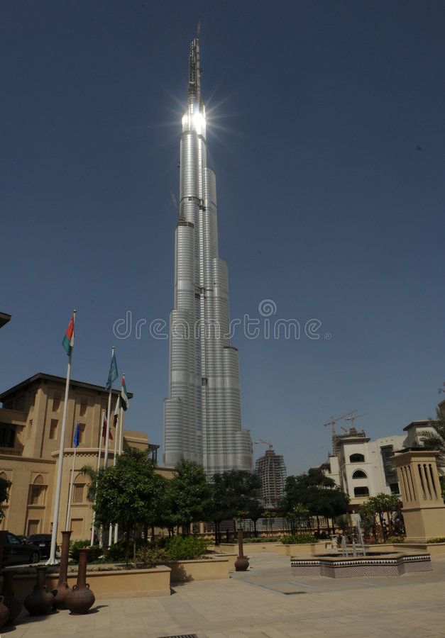 1 burj Ντουμπάι στοκ φωτογραφίες με δικαίωμα ελεύθερης χρήσης