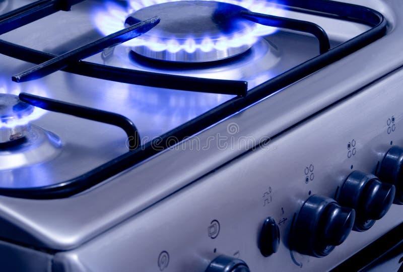 1 burning gas royaltyfria foton