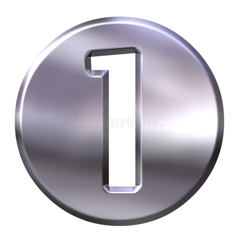 1 być obramowane liczby srebra ilustracja wektor