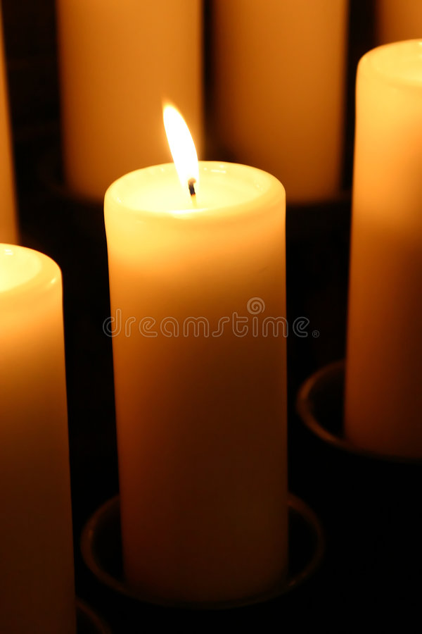 1 candle obraz royalty free