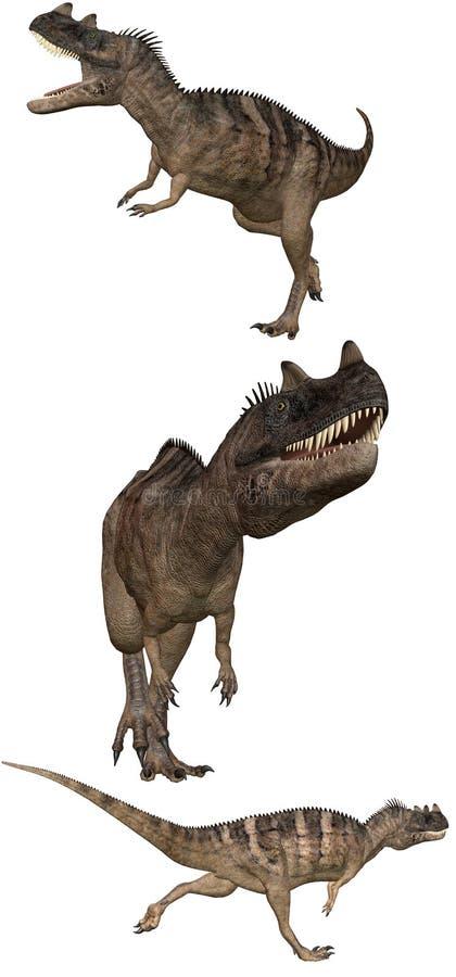 1 ceratosaurus vektor illustrationer