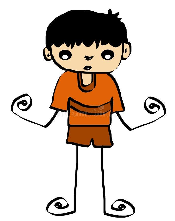 (1) chłopiec kreskówki dziewczyna ilustracji