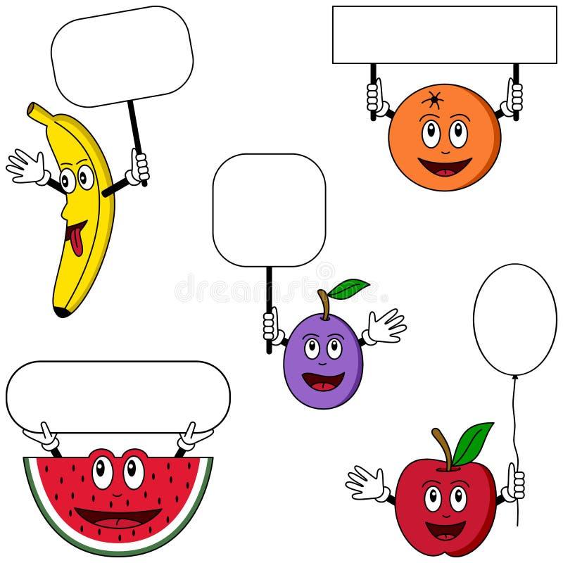 (1) charaktery fruit plakaty royalty ilustracja