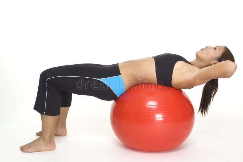 1 chrupnięcia fitball zdjęcie stock