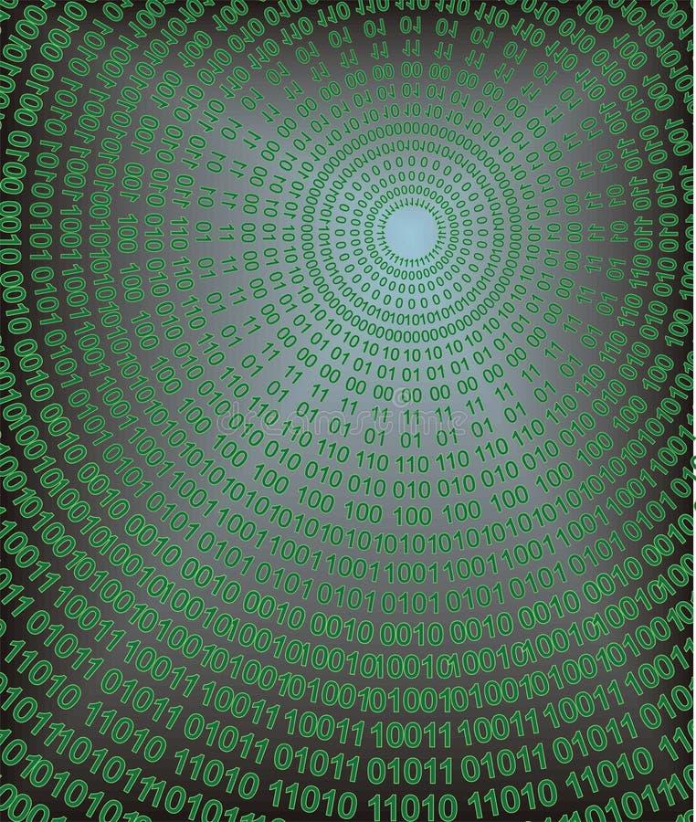 1 code binaire illustration stock