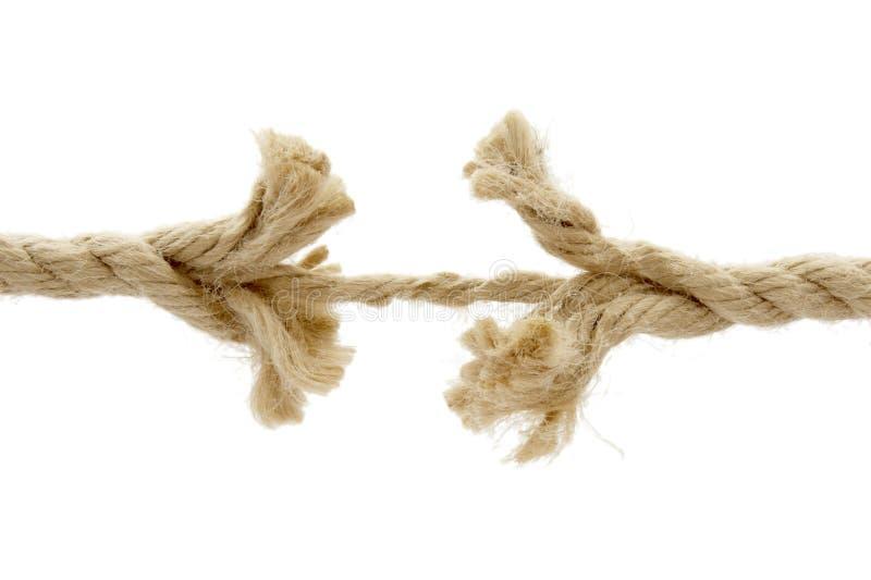 1 corde coupée image libre de droits