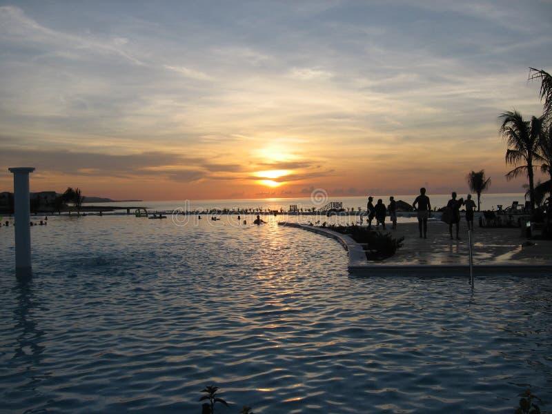 1 coucher du soleil de la Jamaïque photographie stock libre de droits