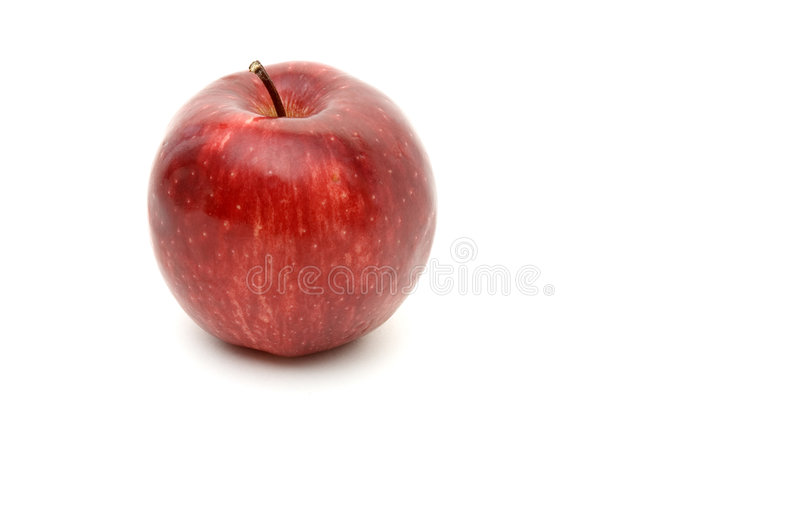 Download 1 czerwony jabłczana zdjęcie stock. Obraz złożonej z biały - 85640