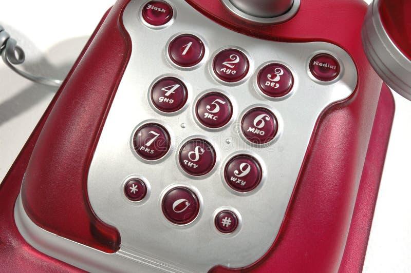 1 czerwony telefon obraz stock