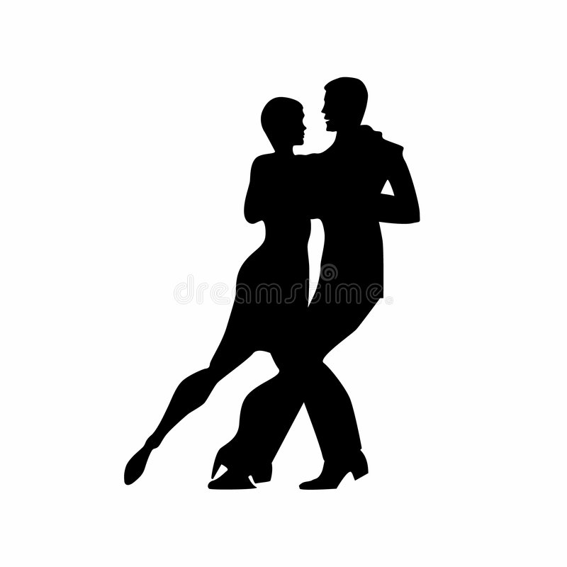 1 dansaretango royaltyfri bild