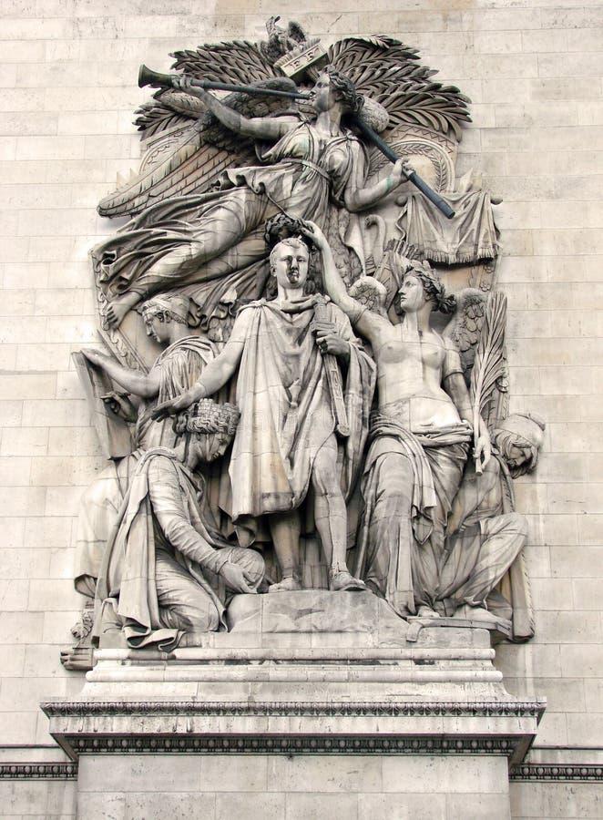 1 de Paris triomphe łuku obraz stock
