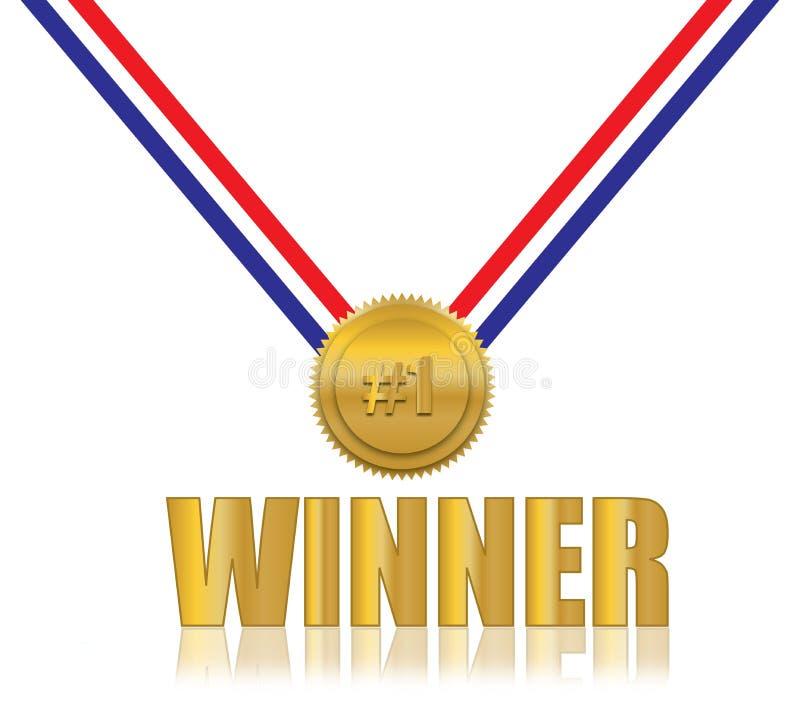 #1 de Toekenning van de winnaar royalty-vrije illustratie