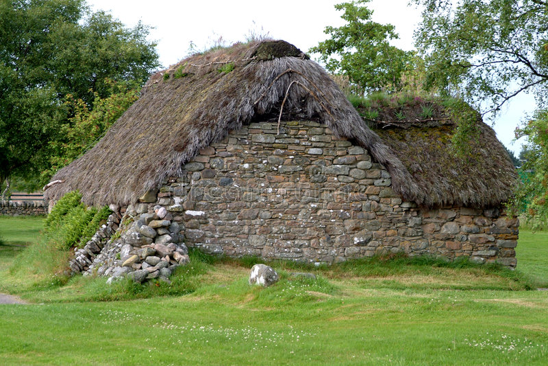 1 Domku Culloden Leanach Scotland Zdjęcia Royalty Free