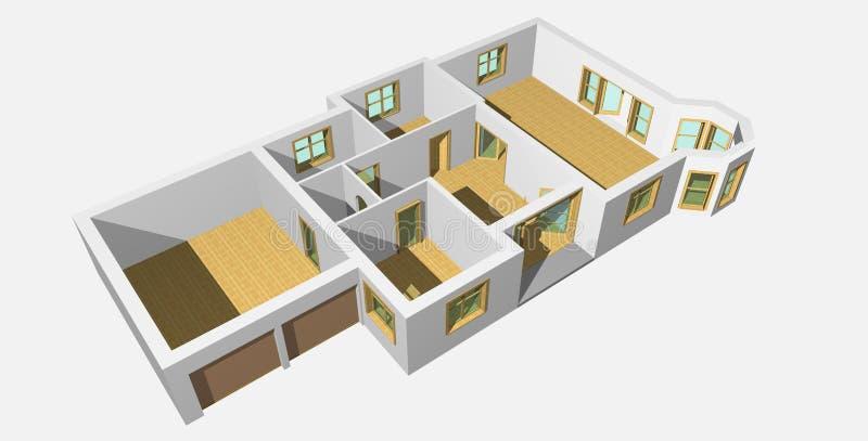 (1) domowy visualisation 3d ilustracji