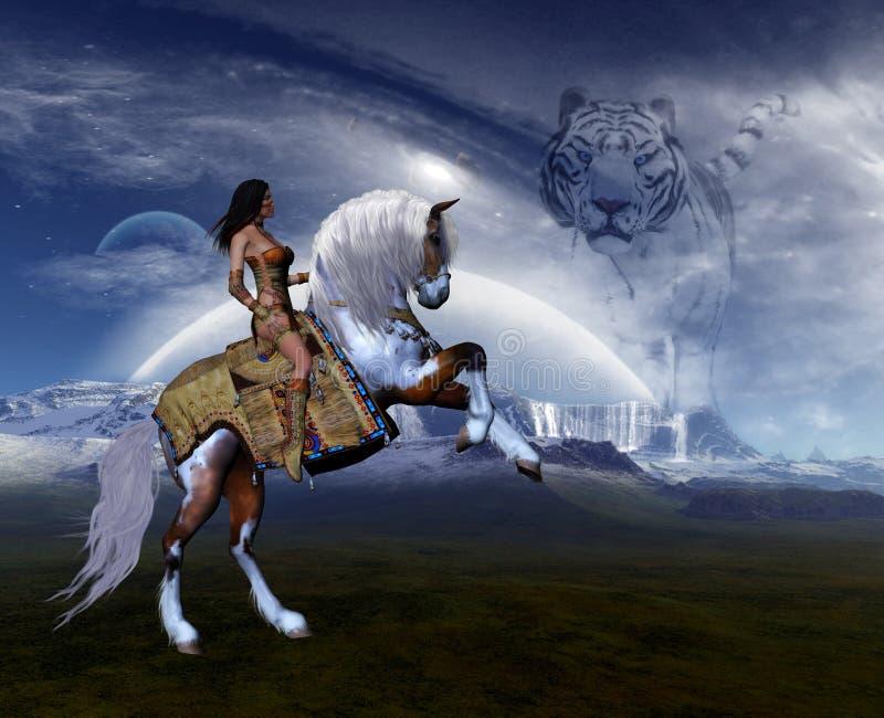 1 drömmarnas land royaltyfri illustrationer