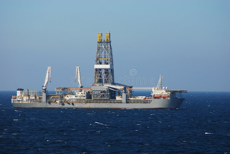 1 drill ship στοκ εικόνες