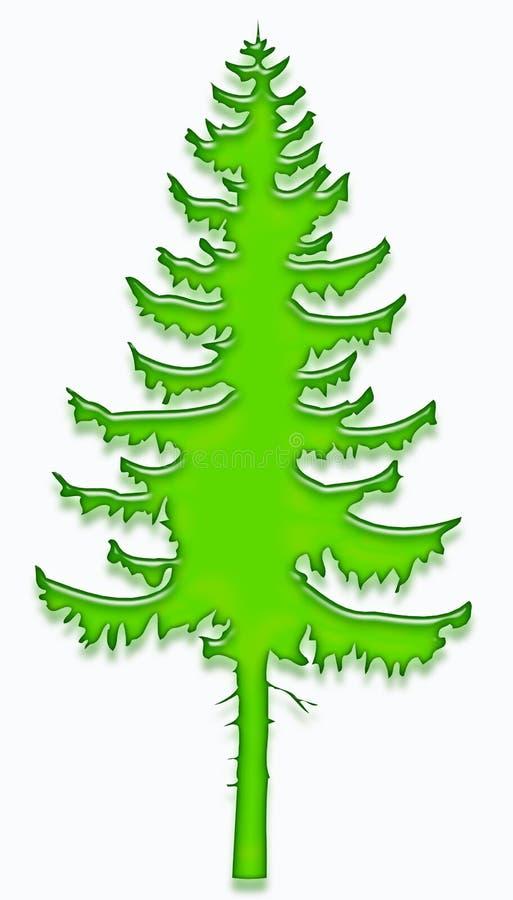 1 drzewo żelu royalty ilustracja